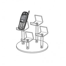 Acrylic Cell Phone 4 Pedestal Display Stand Group