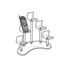 Acrylic Cell Phone 5 Pedestal Display Stand Group