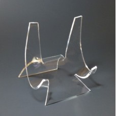 """Acrylic Plate Display Stand Easel 4"""" for 6-9"""" Plates"""