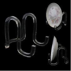 """Acrylic Ribbon Display Easel Stand 3"""" for Plates 4-6"""""""