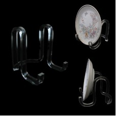 """Acrylic Ribbon Display Easel Stand 4"""" for Plates 6-10"""""""