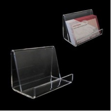 Acrylic Business Card or Cell Phone Display Holder - Horizontal