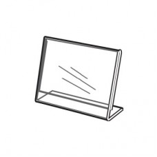"""Acrylic Slanted Counter Sign Photo Display Holder Stand 5.5"""" x 3.5"""""""