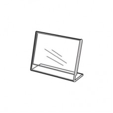 """Acrylic Slanted Counter Sign Photo Display Holder Stand 3.5"""" x 2"""""""