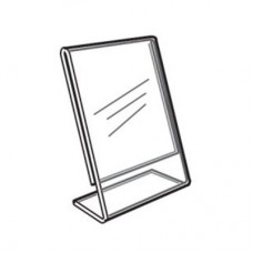 "Acrylic Slanted Counter Sign Photo Display Holder Stand 3.5"" x 5.5"""