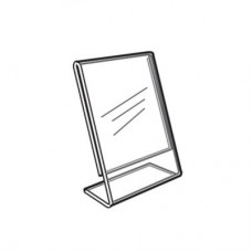 "Acrylic Slanted Counter Sign Photo Display Holder Stand 2"" x 3.5"""