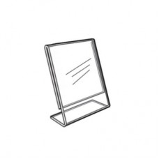 "Acrylic Slanted Counter Sign Photo Display Holder Stand 2.5"" x 3.5"""