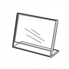 """Acrylic Slanted Counter Sign Photo Display Holder Stand 7"""" x 5"""""""