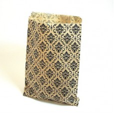 "Paper Merchandise Bags Damask - 5 x 7"" / 100 Bags"
