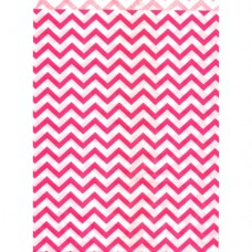 "Paper Merchandise Bags Chevron Pink - 6 x 9"" / 100 Bags"