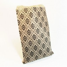 "Paper Merchandise Bags Damask - 6 x 9"" / 100 Bags"
