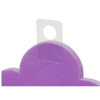 Clear Plastic Adhesive Hang Tags - Small / 36 pcs