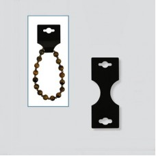 Necklace/Bracelet Hanging Display Small Card BLACK - 50 pcs