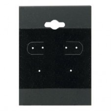 "Earring Display Hanging Cards 1.5"" x 2"" / Black - 10 pcs"