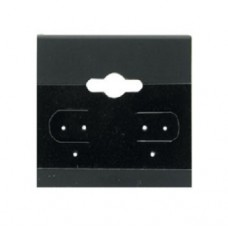 "Earring Display Hanging Cards 1.5"" x 1.5"" / Black - 10 pcs"
