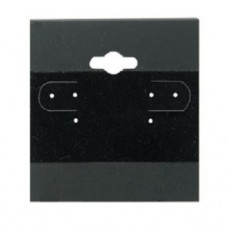 "Earring Display Hanging Cards 2"" x 2"" / Black - 10 pcs"