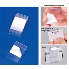"Clear Adhesive Earring Card Adapters 1x2"" / 10 pcs"