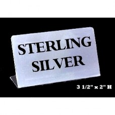 "Jewelry Sign - Metal / ""Sterling Silver"""