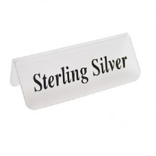 "Jewelry Sign - Frosted Acrylic / ""Sterling Silver"""