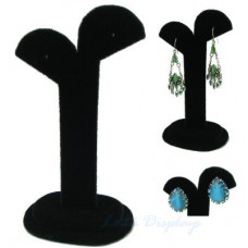 Arc Top Earring Display Stand - Tall / Black