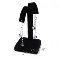 Black Velvet Adustable Arm Earring Display Stand