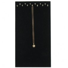 Necklace Display Easel Stand 13 Hooks Tray Liner Black