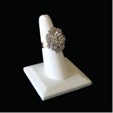 Ring Display Stand Squared 1 Digit - WHITE