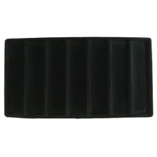 Black Flocked Sectional Jewelry Tray Insert - 7 Section