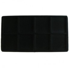 Black Flocked Sectional Jewelry Tray Insert - 8 Section