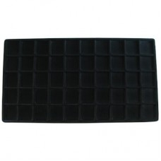Black Flocked Sectional Jewelry Tray Insert - 50 Section