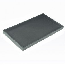 "Black Plastic Stackable Jewelry Standard 1"" Tray"