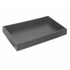 "Black Plastic Stackable Jewelry Standard 1.5"" Tray"